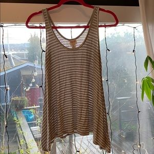 Grey and white striped tank